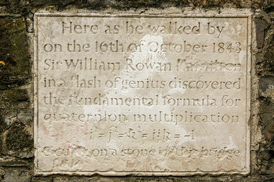 Quaternion Plaque, Broombridge