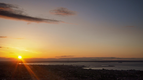 Sunset over Dublin Bay, from Dalkey Hiññ