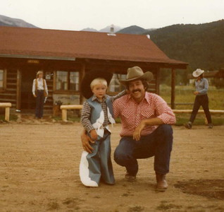 1978. Justin Howe with dad, Bob Howe