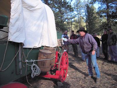 Lach christens the A/U NAB Chuck Wagon