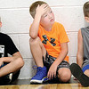 KEVIN HARVISON | Staff photo<br /> Pictrued from left, Jett Kerns, Jackson Hall and Cole Reed take a break during the Panther Pride Sumer Camp at PIttsburg. The camp is open to 1-6 grade and 7-12 grade sessons of speed, agility, strenght training and basketball skills.
