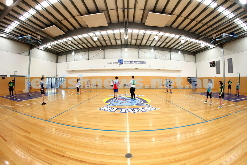 20-9-15. Mixed netball action from the AUJS sports afternoon held at Bialik College. Photo: Peter Haskin.