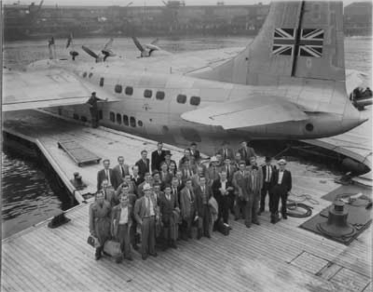 Southampton Docks, flying boat moorings at berth 50.