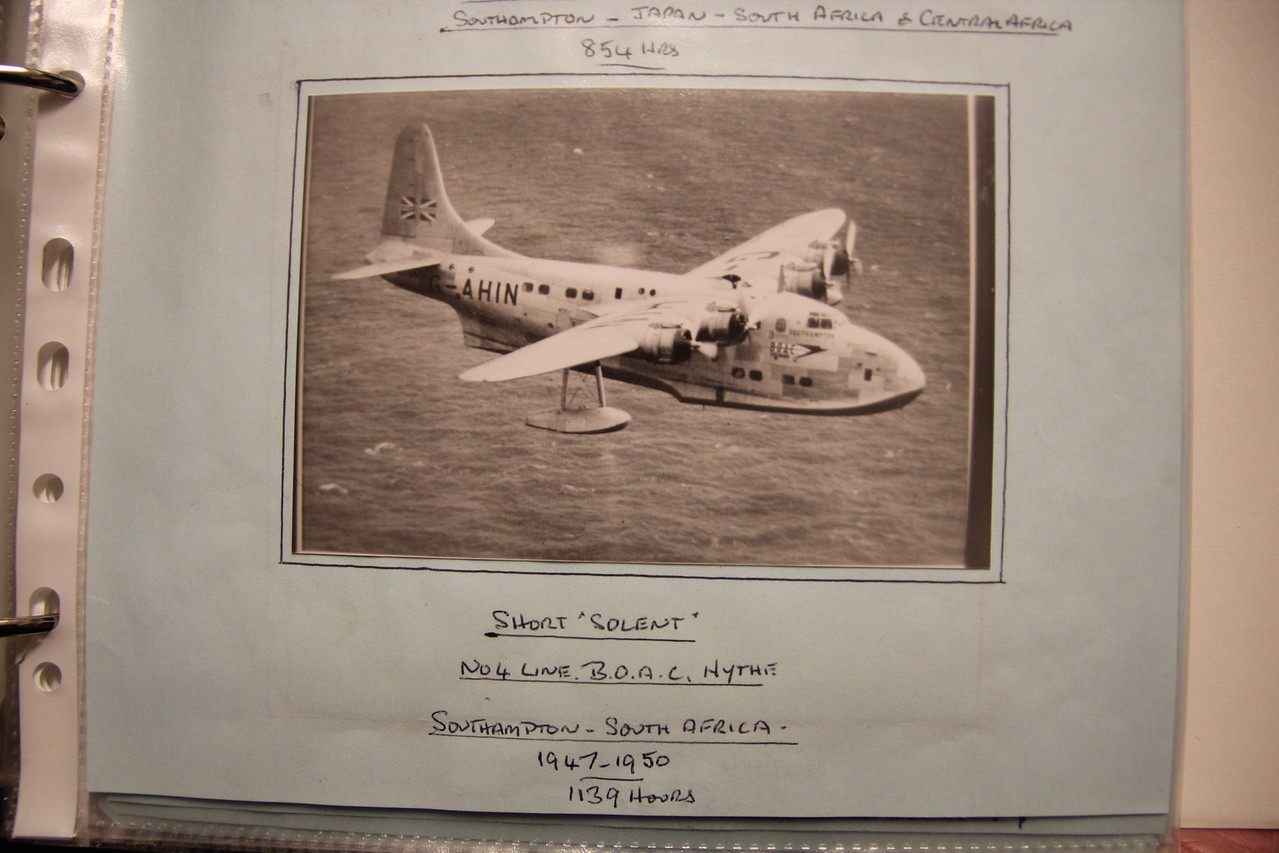 That actual flying plane that flew from Southampton to South Africa.