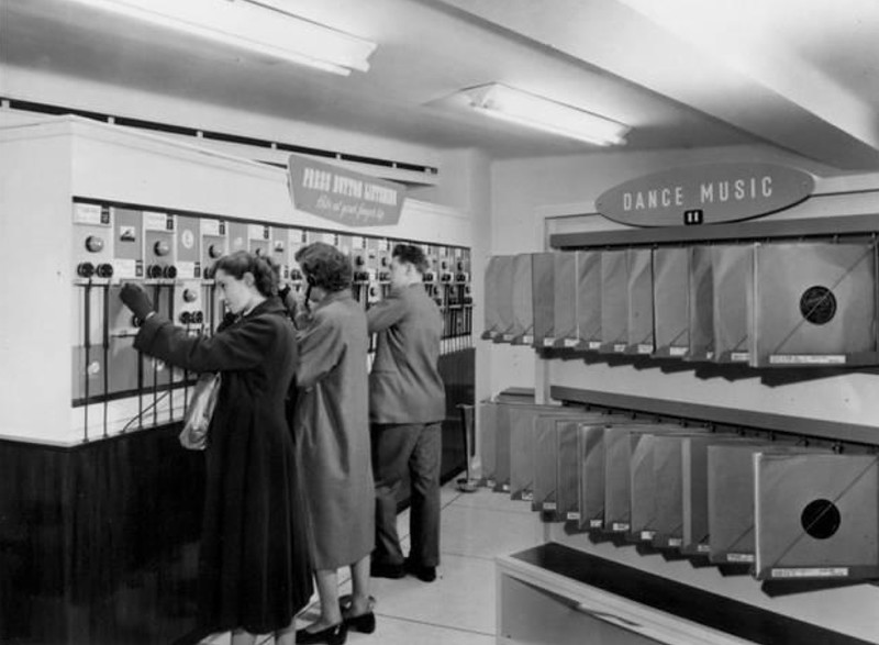 HMV Oxford Street, London 1953