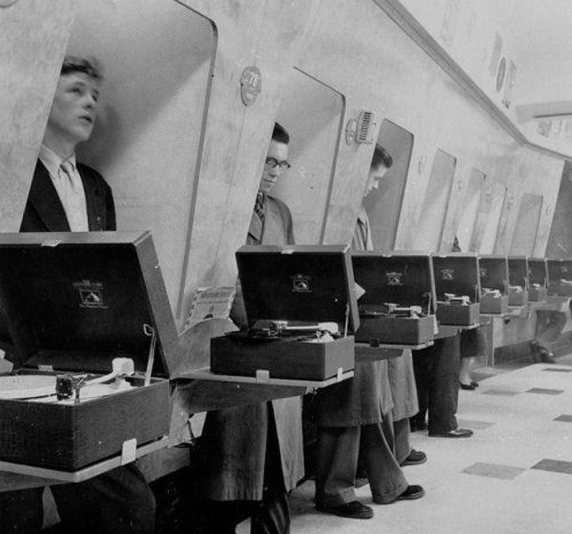 HMV Oxford Street, London 1955