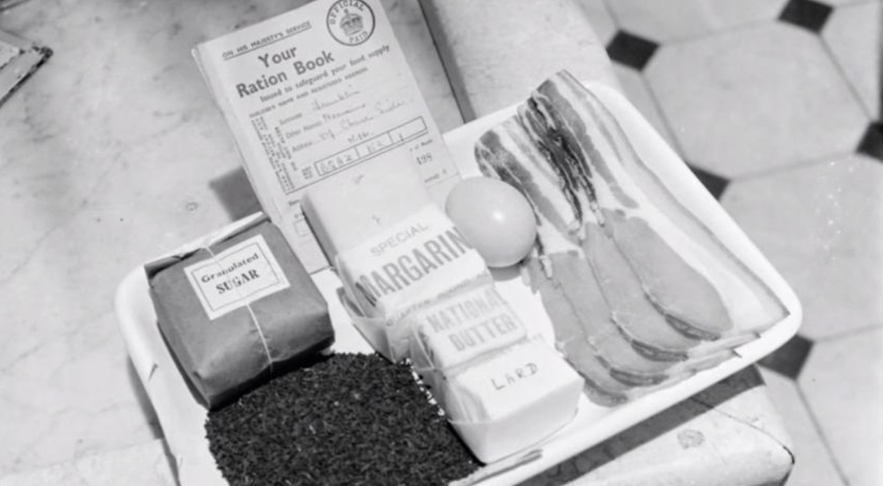 Rationing of food and fabrics was still in force in Britain until 1953.