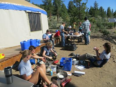 yurt cooking