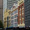 Street scene and buildings in Melbourne, State Of Victoria, Australia