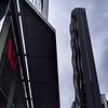 Low angle view of skyscraper buildings, Melbourne, State Of Victoria, Australia
