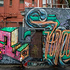 Graffiti on the wall of houses in a street, Melbourne, State Of Victoria, Australia