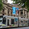 Tram on the road, Melbourne, State Of Victoria, Australia