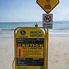 Warning sign on the beach, Four Mile Beach, Port Douglas, Far North Queensland, Queensland, Australia