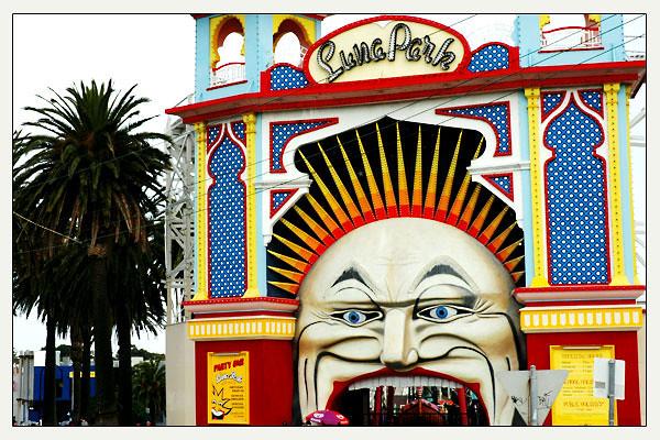 Luna Park in St Kilda<br /> Melbourne, Victoria