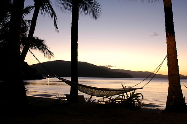 Hammock at Sunset<br /> Whitsunday Islands, Queensland