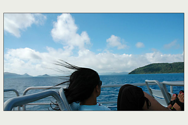 - boat ride around the Whitsunday Islands<br /> Great Barrier Reef, Queensland