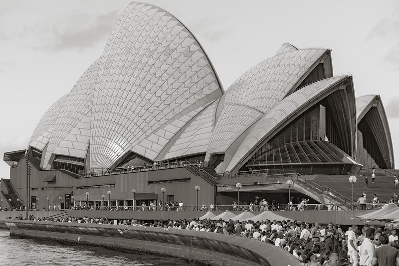 Friday afternoon at the Sydney Opera House
