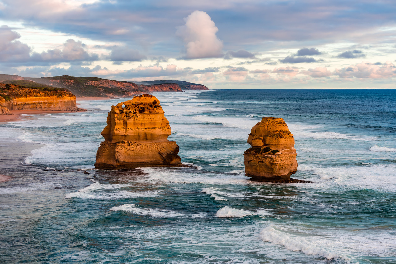 Apostles from Castle Rock at sunset