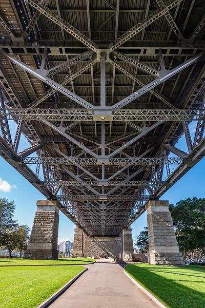 Under the Sydney Harbor Bridge