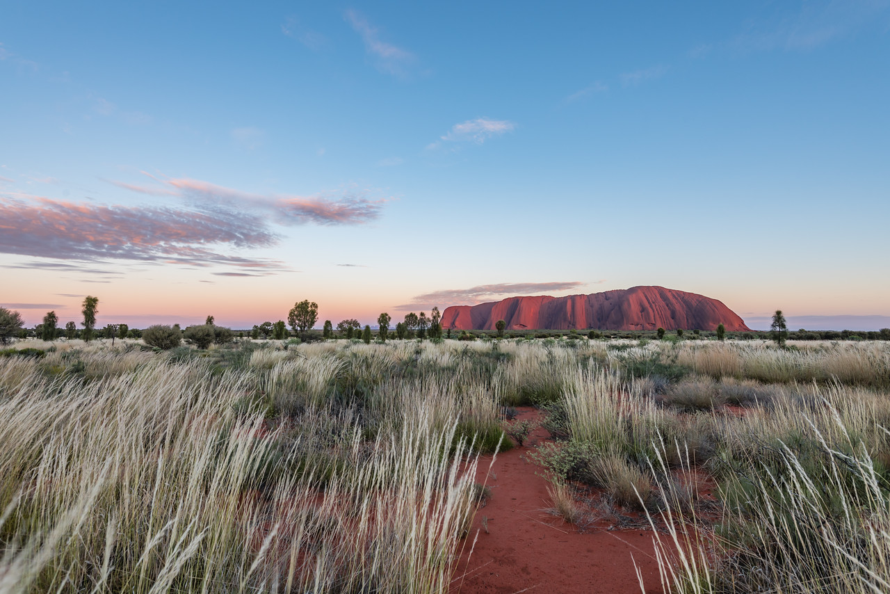 Ayers Rock before sunrise
