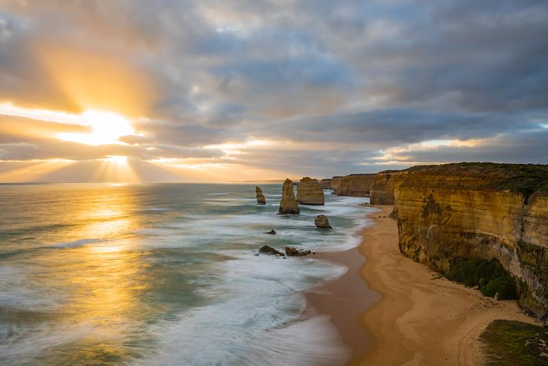Twelve Apostles before sunset