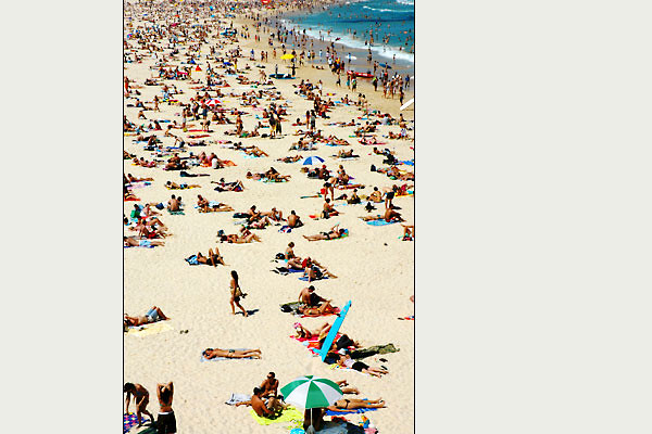 - bodies basking<br /> Bondi Beach, Sydney