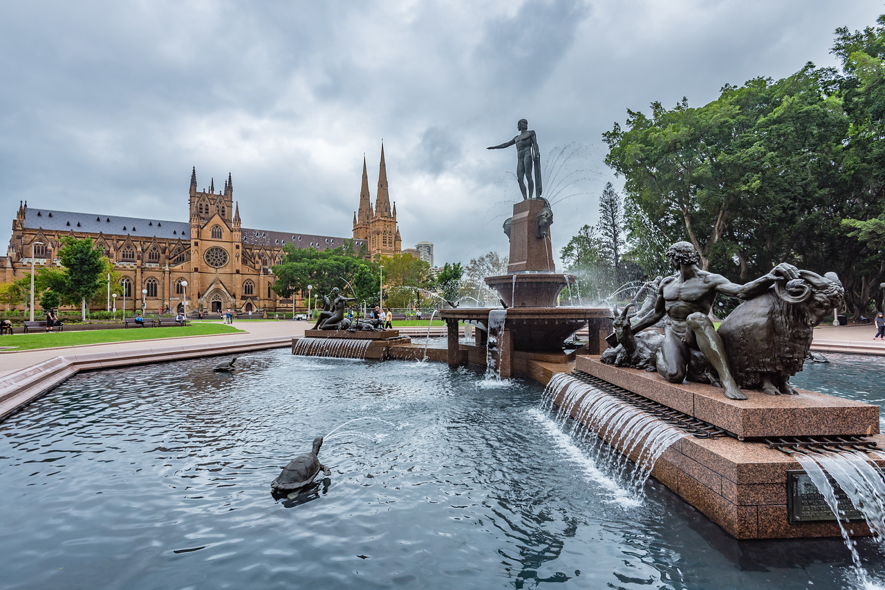 Archibald Fountain and St Mary'd Cathedral