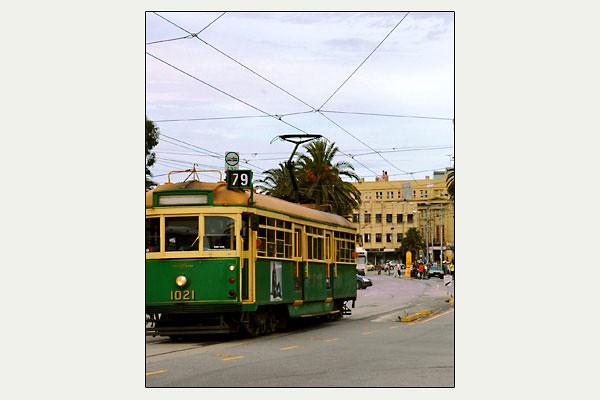 St. Kilda street car<br /> Melbourne, Victoria