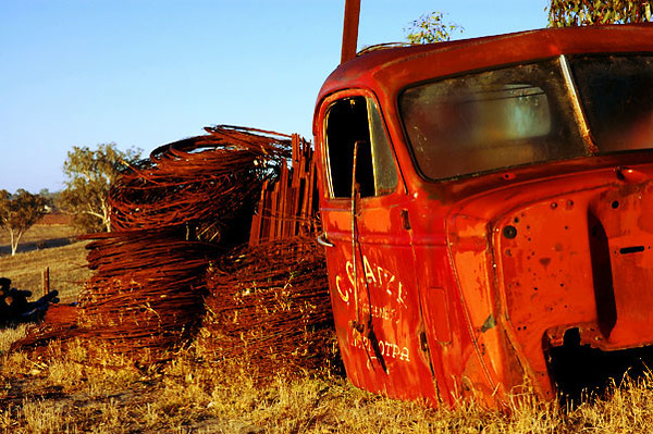- old red truck<br /> Barossa Valley, South Australia