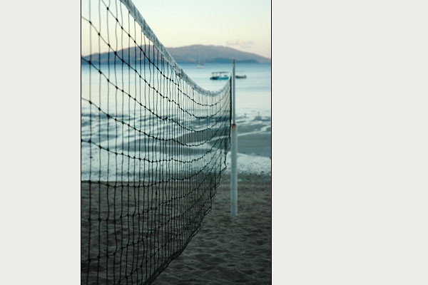 - volleyball net<br /> Whitsunday Islands, Queensland