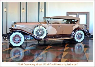 1934 Duesenberg Model J Dual Cowl Phaeton by LeGrande