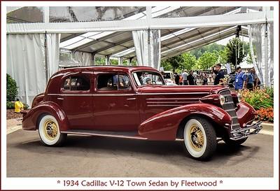 1934 Cadillac V-12 Town Sedan