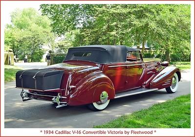 1934 Cadillac V-16 Convertible Victoria by Fleetwood
