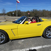 MR. & MRS. SPEEDY GONZALEZ. 'TIS RUMORED THIS CAR HAS HIT 125 MPH.