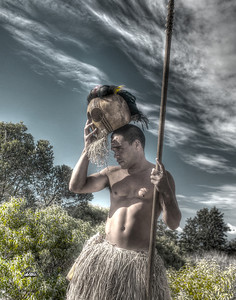 Item# 1169  -Warrior- - Kauai Hawaii  11x14 Print copy