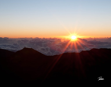 Item# 1180 -  -Haleakala - House of the Rising Sun- Sunrise Crest-   - Maui Hawaii  11x14 Print copy
