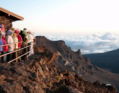 Item# 1179 - - Haleakala - House of the Rising Sun- Sunrise  - Maui Hawaii  11x14 Print copy
