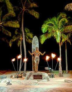 Item# 1164  - Duke Monument - Waikiki Beach  11x14 Print copy