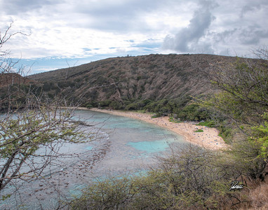 Item# 1176 -Hanauma Bay - -Curved Bay- - Oahu Hawaii  11x14 Print copy