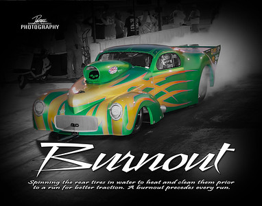 Item# 1081 Drag Racing (BURNOUT) 11x14 Print