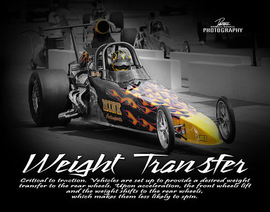 Item# 1088 Drag Racing (WEIGHT TRANSFER) 11x14 Print copy