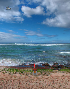 Item# 1160 - North Shore Rock Warning - 11x14 Print copy
