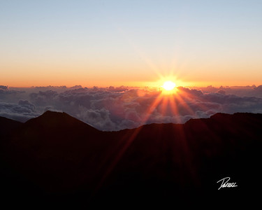 Item# 1180 -  -Haleakala - House of the Rising Sun- Sunrise Crest-   - Maui Hawaii  8x10 Print copy