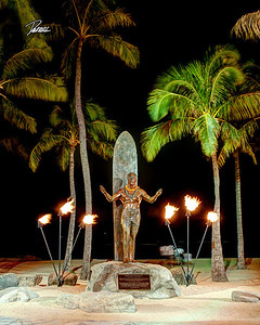 Item# 1164  - Duke Monument - Waikiki Beach  8x10 Print copy