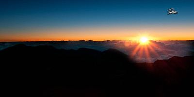 Item# 1197 - Haleakala - House of the Rising Sun- Sunrise Crest-   - Maui Hawaii 10x20 Print  copy