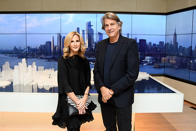 Randi Schatz, David Rockwell AVENUE MAGAZINE Presents the SALON DINNER & CONVERSATION with Architect and Designer DAVID ROCKWELL  10 Hudson Yards NYC, USA - 2017.10.17 Credit: Lukas Maverick Greyson