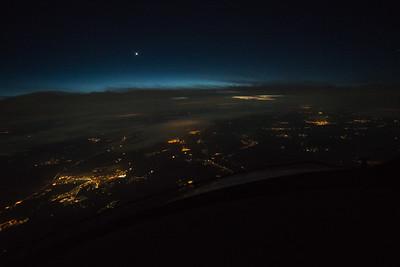 Sunset over Slovakia