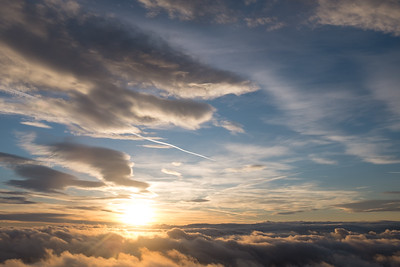 Just above the horizon