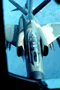 F4 Phantom's taken while aboard a KC-135 refueling mission over South Florida. September 22, 1983