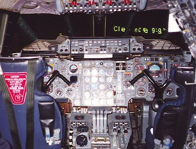 The cockpit of the Air France Concorde that crashed. I photographed it while on a trip to Fort Lauderdale.